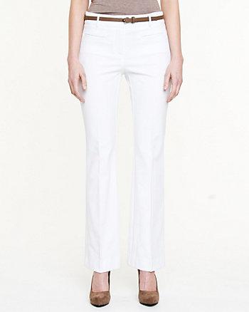 Cotton Blend Flare Leg Pant