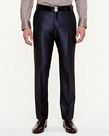 Pantalon rayé à jambe droite