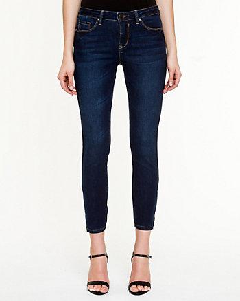 Stretch Denim Slim Leg Crop Pant