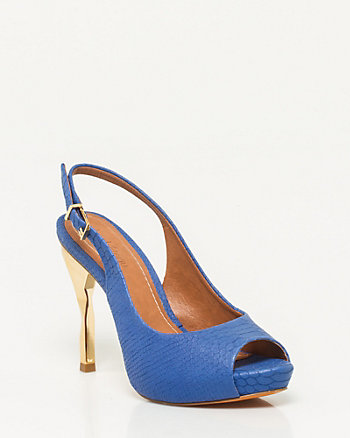 Brazilian-Made Leather Slingback