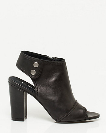 Leather Peep Toe Shootie