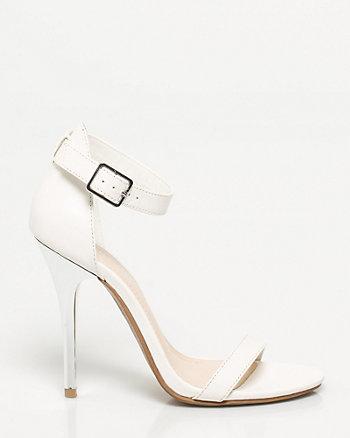 Sandale de similicuirà bride de cheville