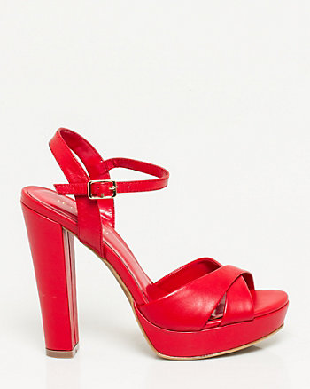 Leather Platform Sandal