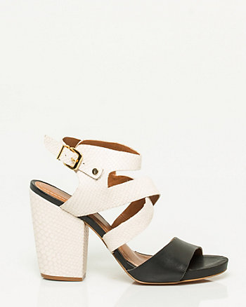 Brazilian-Made Leather Block Heel Sandal