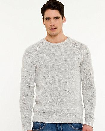 Tape Yarn Crew Neck Sweater