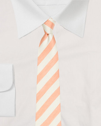 Silk Blend Stripe Tie