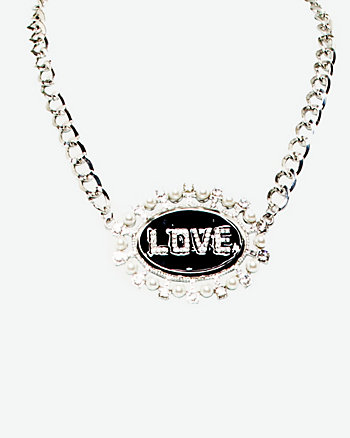Love Pendant Statement Necklace