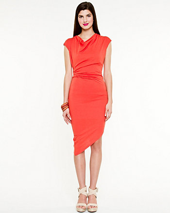 Jersey Knit Asymmetrical Dress
