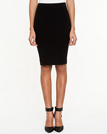 Ponte High-waist Pencil Skirt
