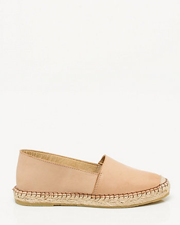Leather Almond Toe Espadrilles