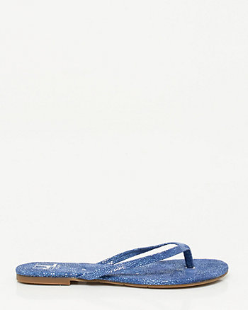 Stingray Leather Flip Flop