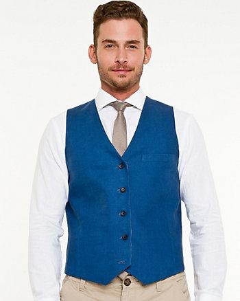 Linen Blend Reversible Vest