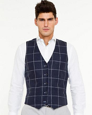 Linen Check Reversible Vest