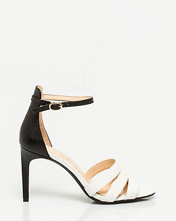 Nubuck Leather Ankle Strap Sandal