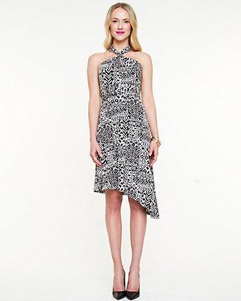 Tribal Print Halter Dress