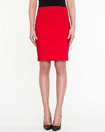 Stretch Piqué Pencil Skirt