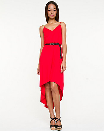 Jersey Knit High-Low Dress