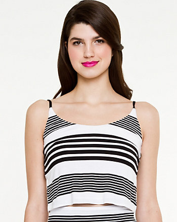 Jersey Stripe Cropped Top