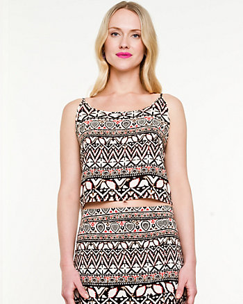 Challis Tribal Print Crop Top