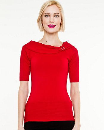 Viscose Blend Foldover Sweater