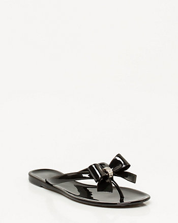 Jelly Thong Bow Sandal