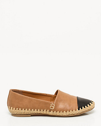 Leather-Like Espadrille