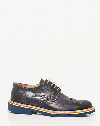 Italian Made Leather Men's Brogue