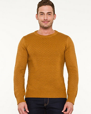 Wool Blend Popcorn Stitch Sweater
