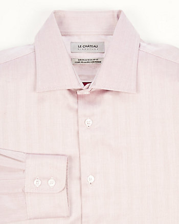 Cotton Herringbone Euro Fit Shirt