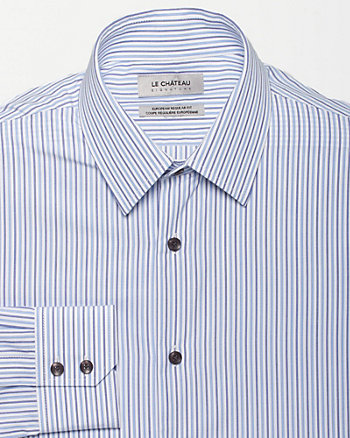 Stripe Cotton Slim Fit Shirt