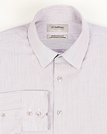 Pinstripe Cotton Slim Fit Shirt