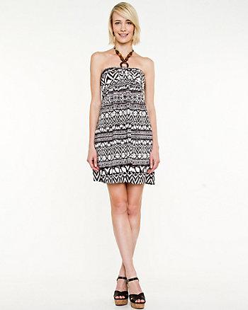 Bohemian Print Halter Dress