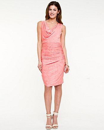 Jersey Knit Cowl Neck Dress