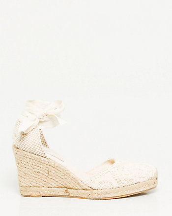 Spanish-Made Crochet Wedge Espadrille