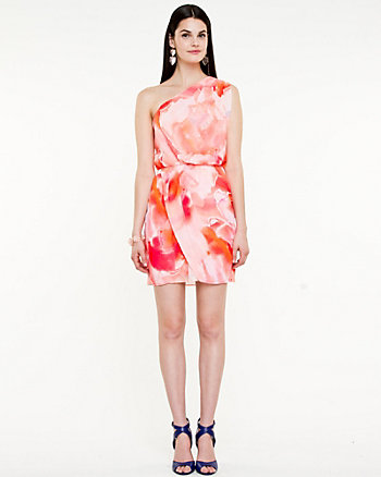 Floral Asymmetrical Dress