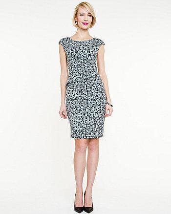 Knit Geo Print Dress