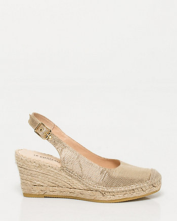 Spanish-made Metallic Espadrille