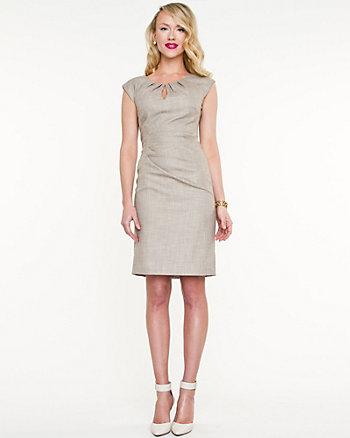 Tweed Pleated Dress