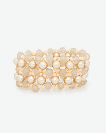 Pearl-Like Stretch Bracelet