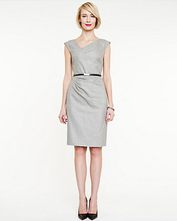 Crosshatch V-Neck Dress