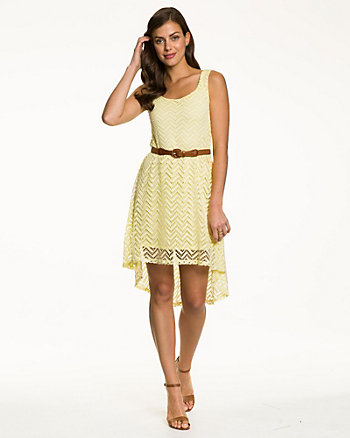 Crochet Scoop Neck Dress
