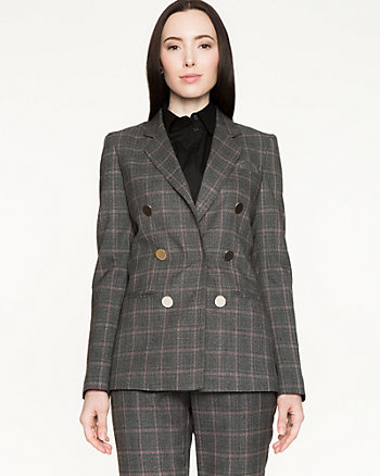 Canadian-Made Plaid Tweed Blazer