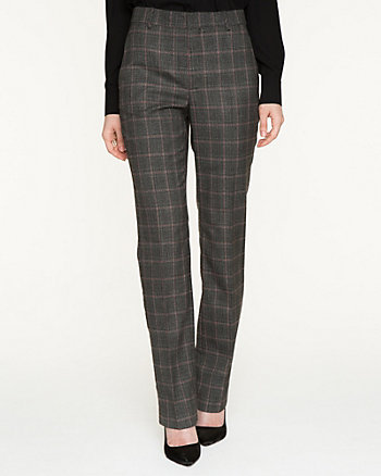 Plaid Stretch Tweed Pant