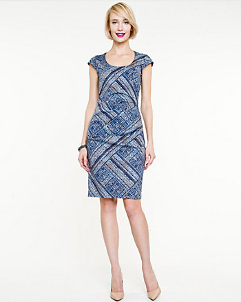 Poplin Abstract Print Dress