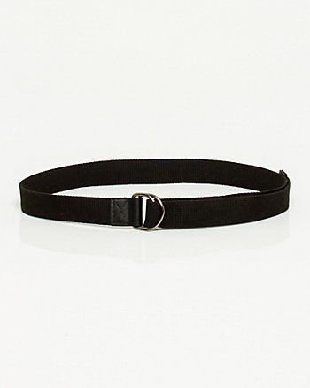 Cotton & Leather Belt