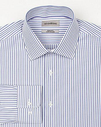 Stripe Cotton Regular Fit Shirt