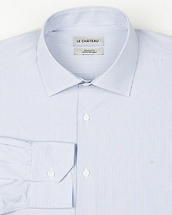 Stripe Cotton Blend Classic Fit Shirt