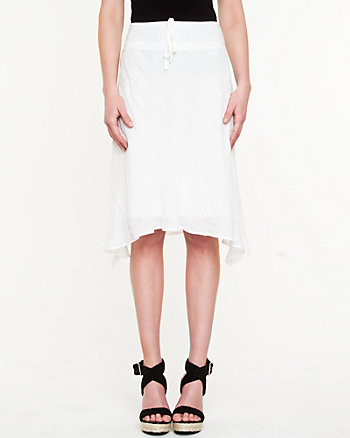 Ghost Gauze Shark-hem Skirt