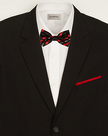 Plaid Bow Tie & Pocket Square Set