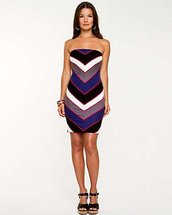 Chevron Stripe Tube Dress